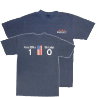 Men's Patriot T-Shirt w/Navy SEALs 1 Bin Laden 0