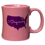 I Love My Country Diner Coffee Mug