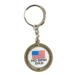 No Spin Dad Keychain