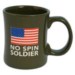 No Spin Soldier Diner Coffee Mug