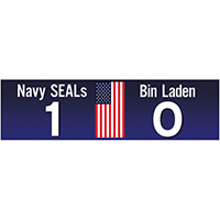 Navy SEALs 1 Bin Laden 0 Bumper Sticker - Pack of 5 stickers