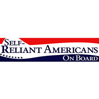 Self-Reliant Americans On Board Bumper Sticker - Pack of 5 stickers